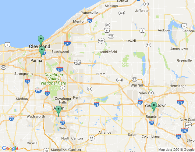 Map of Cleveland Main Showroom