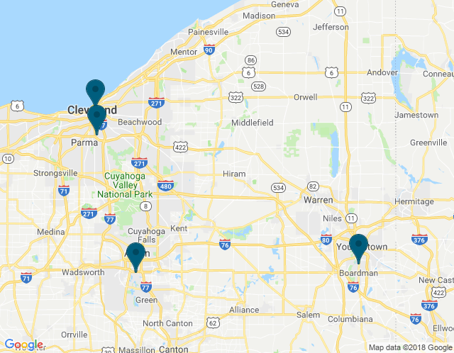 Map of Cleveland Main Showroom (Visits By Appointment Only)